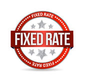 Fixed rate seal illustration design Stock Photography