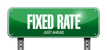 Fixed rate sign illustration design Royalty Free Stock Images