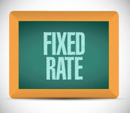 fixed rate sign message illustration Stock Photography