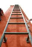 Fixed red ladder Stock Photo