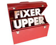 Fixer Upper House Home Repair Construction Project. Tool Box Stock Photo