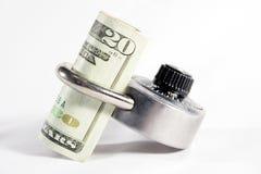 Fixez l'argent Image libre de droits