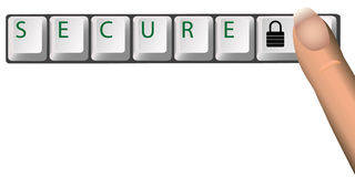 FIXEZ la clé de verrouillage de clavier Image libre de droits