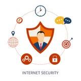 Fixez la sécurité en ligne d'achats et d'Internet illustration stock