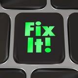 Fixez-le conseil d'instructions de réparation de touche d'ordinateur illustration stock