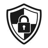 Fixez le logo abstrait de protection icône de serrure de bouclier de vecteur Photos stock