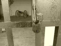 Fixez le vieux chariot Image stock
