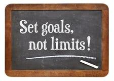 Fixez les buts, aucune limites Images libres de droits