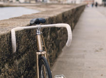 Fixie bike in a boardwalk Stock Image