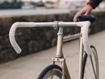 Fixie cykeldetalj Fotografering för Bildbyråer