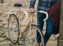 Fixie cykeldetalj Arkivbilder