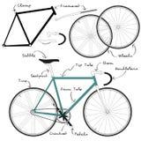 Fixie-Fahrrad Lizenzfreie Stockbilder