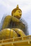 Fixing  Big Buddha Image , Ang Thong in Thailand Royalty Free Stock Photo
