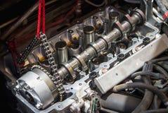 Fixing car engine using local method in Thailand Stock Photos