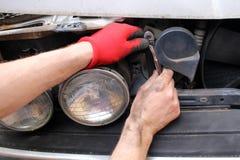 Fixing Car Royalty Free Stock Photos
