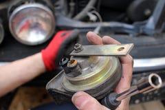 Fixing Car Stock Image