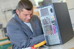 Fixing central processing unit Stock Image