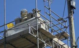 Fixing chimneys stock photography