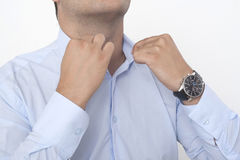 Fixing collar Royalty Free Stock Photos