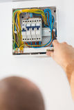 Fixing Electric Fuse at Home Stock Image