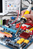 Fixing electronics royalty free stock photography