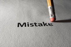 Fixing a mistake Stock Image