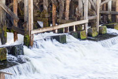 Fixing the old dam Stock Photography