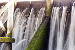 Fixing the old dam Royalty Free Stock Photo