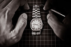 Fixing an Old watch Royalty Free Stock Photos