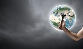 Fixing planet problem Stock Image