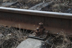 Fixing the railroad track Royalty Free Stock Images