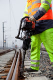 Fixing the railtrack Stock Photography