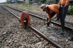 Fixing railway Stock Photos
