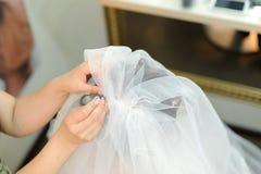 Fixing Veil Royalty Free Stock Photography