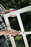 Fixing the windows. Stock Photography