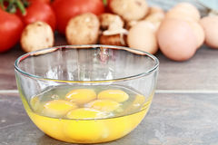 Fixings for an Omelet Stock Images