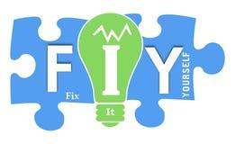 FIY - Fixez-le vous-même des formes colorées Image libre de droits