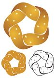 Fize twist Pretzel Royalty Free Stock Photo