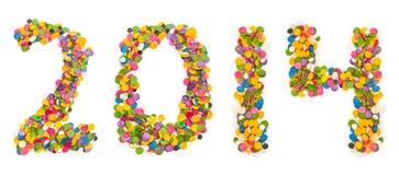 2014 fizeram dos confetes Imagem de Stock