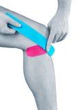 Fizjoterapia dla bólu, obolałość i napięcia kolana, Obraz Stock