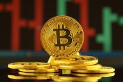 Fizyczna wersja Bitcoin, nowy wirtualny pieniądze Obraz Royalty Free