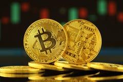 Fizyczna wersja Bitcoin, nowy wirtualny pieniądze Fotografia Stock