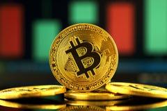 Fizyczna wersja Bitcoin, nowy wirtualny pieniądze Zdjęcia Royalty Free