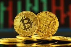 Fizyczna wersja Bitcoin, nowy wirtualny pieniądze Zdjęcia Stock