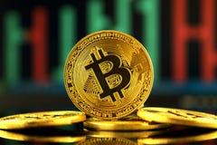 Fizyczna wersja Bitcoin, nowy wirtualny pieniądze Obrazy Stock