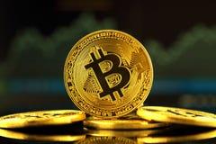 Fizyczna wersja Bitcoin, nowy wirtualny pieniądze Zdjęcie Royalty Free