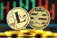 Fizyczna wersja Litecoin, nowy wirtualny pieniądze Zdjęcia Royalty Free