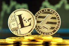 Fizyczna wersja Litecoin, nowy wirtualny pieniądze Obrazy Stock