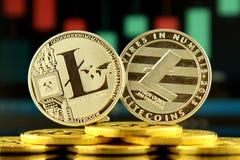 Fizyczna wersja Litecoin, nowy wirtualny pieniądze Obrazy Royalty Free