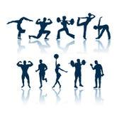 fizyczne sylwetki fitness Obrazy Stock